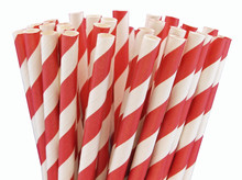 Paper Straws - Red Stripes