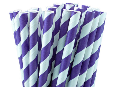 Purple Paper Straws