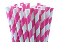 Shocking Pink Paper Straws