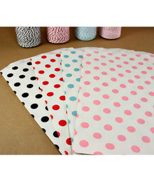 Polka Dot Bags - 6.25&quot; x 9.25&quot;