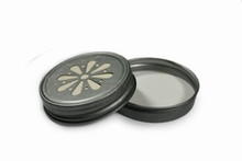 Daisy Mason Jar Lids - Antique Pewter