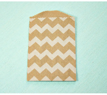 Little White Chevron Bags