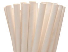 White Paper Straws - Jumbo Smoothie 7.75""