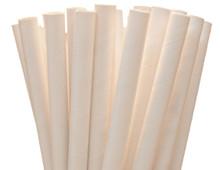 Jumbo White Paper Straws