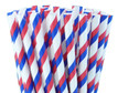 Red, White, and Blue Striped Paper Straws