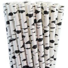 Paper Straws - Black Birch Bark