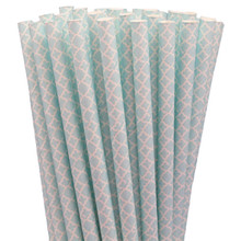 Paper Straws - Blue Lace