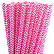 Paper Straws - Pink Chevron