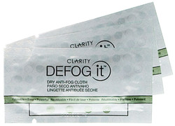 Clarity Defog It Reuseable Anti-fog Dry Wipes 3-Pack (Buy 2 for USD$9.00 Per 3 Pack)