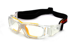 Sports Goggles DE495 Crystal Clear / Yellow (Prescription/Rx Lenses Available)