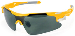 Sports Wrap-Around Sunglasses D548 Yellow