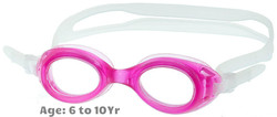 Kids Prescription Swim Goggles S7 (Custom Made to Prescription) - Pink