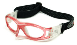 Kids Sports Goggles BL012 Pink / White with Nose Protector 130mm Frame Width