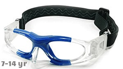 Kids Sports Goggles BL012 Clear / Blue with Nose Protector (Prescription/Rx Lenses Available)