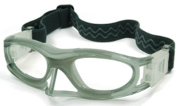 Kids Sports Goggles BL012 Gray / White with Nose Protector 130mm Frame Width