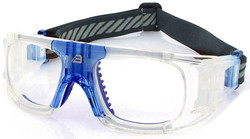 Adult Sports Goggles BL018 Clear / Blue (Prescription/Rx Lenses Available)
