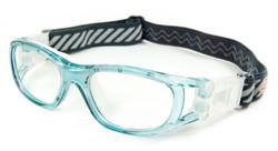 Kids Sports Goggles BL016 Blue / White 120mm Frame Width