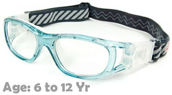 Kids Prescription Sports Goggles BL016 Blue Suitable for Ages 6 to 12 Years