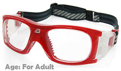 Adult Prescription Sports Goggles BL009 Red Suitable for Adults