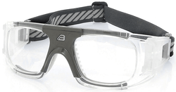 Adult Sports Goggles BL018 Clear / Sea Gray  (Prescription/Rx Lenses Available)
