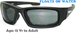 Fuglies RX12 sports sunglasses shown with optional grey tinted prescription lenses.