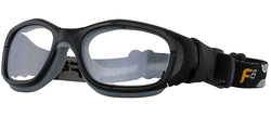 Rec Specs F8 Slam Goggle XL [Shiny Black/Grey - 55 Eye Size] (Prescription/Rx Lenses Available)