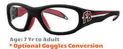Rec Specs F8 Collegiate Prescription Sports Glasses 51 & 53 Eye Size - Suitable for Ages 7 to Adults