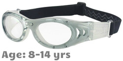 M2P MP046 Rx-able Sports Glasses in Grey/White - Suitable for 8 Year Olds and Up