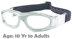 M2P MP821 Rx-able Sports Glasses in Grey - Suitable for 10 Year Olds thru to Adults