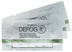 Defog It Reusable Anti-Fog Wipes (Packs of 3 - Comes with Resealable Pouches)