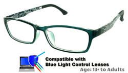 Techno - Grey Glasses: Compatible with Optional Blue Light Control Lenses