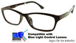 Rodessa - Burgundy Prescription Glasses  - Compatible with Blue Light Control Lenses