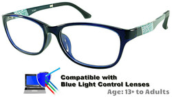 Austin - Black Glasses: Compatible with Optional Blue Light Control Lenses