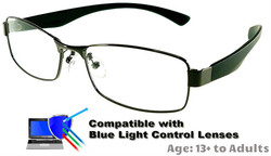 Kingswood - Gunmetal Glasses: Compatible with Optional Blue Light Control Lenses