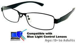 Kingswood - Black Glasses: Compatible with Optional Blue Light Control Lenses