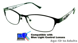 Rosemount - Black Glasses: Compatible with Optional Blue Light Control Lenses