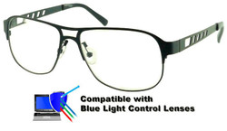 Thompson - Grey Glasses: Compatible with Optional Blue Light Control Lenses