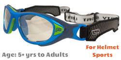 Rec Specs F8 Helmet Spex Prescription Sports Goggles in Matte Electric Blue
