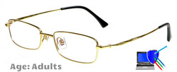 Dallas Titanium Prescription Glasses - Gold