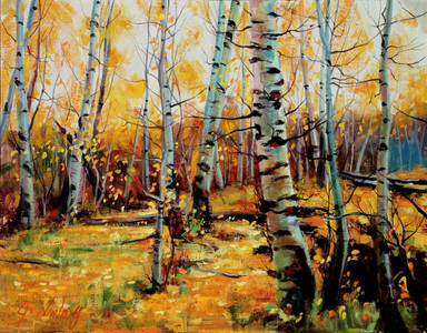 Aspen Grove Original Oil Study (SOLD)