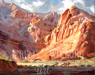 Snow Canyon Shadows Giclée Print