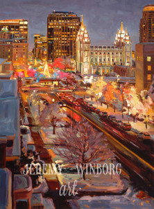 City Street Lights Original  (SOLD)