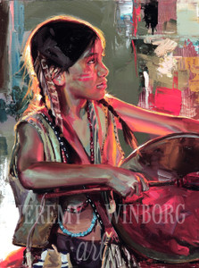 Little Drummer Boy Original Oil Study (SOLD)
