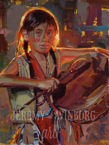 Little Drummer Brave Original Oil Study