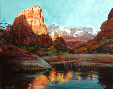 Zion Morning Giclée Print Studio Sale
