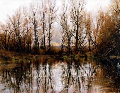 Millville Pond Giclée Print Studio Sale