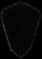 theDartZone Premium Flights - Fantail - Black