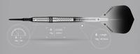 Target Colours II Black - Soft Tip Darts - 18g