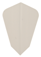 theDartZone Premium Flights - Fantail - White