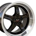 "17"" Fits Ford®  Mustang® Cobra R Wheels Black 17x10.5 Rims"